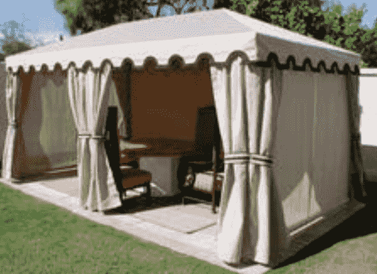 How to stop a gazebo from blowing away