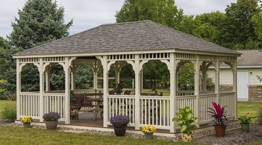 What is the standard size of a gazebo